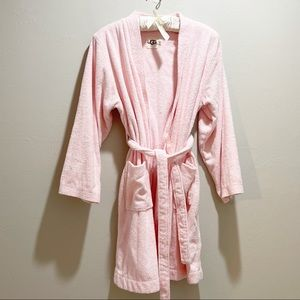 UGG AUSTRALIA Soft Pink Terry Belted Spa Robe